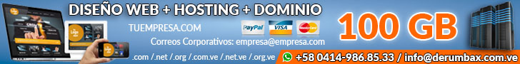 Diseño Web + Hosting + Dominio 750x100 TOP